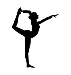 Side plank gymnastic vector