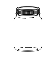 Silhouette jar of jam with lid vector