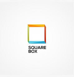 simple colorful abstract square logo sign symbol vector image