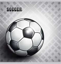 Soccer ball on abstract gray background vector