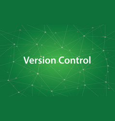 Version control white text with green vector