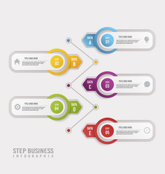 white step business infographic design vector image