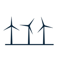 Wind turbine icon wind power energy vector