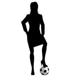 Woman footballer vector