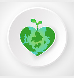 world environment day concept love the world vector image