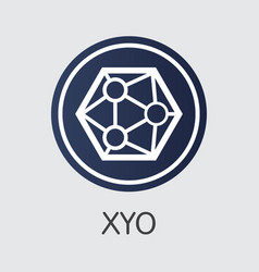 Xyo - cryptocurrency icon vector