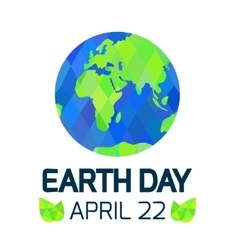 Earth Day card on white background vector image vector image