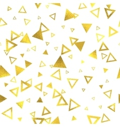 Geometric gold glittering foil seamless pattern vector image vector image