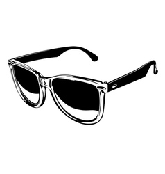 plastic sunglasses vector image vector image