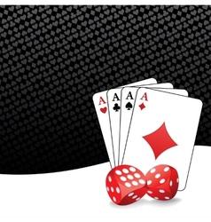 Stylized gambling background vector image vector image