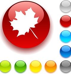 Autumn button vector image vector image