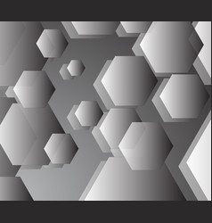basic grey pentagon background in harmony vector image vector image