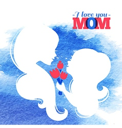 Card of Happy Mothers Day vector image