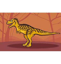 cartoon of tarbosaurus dinosaur vector image vector image