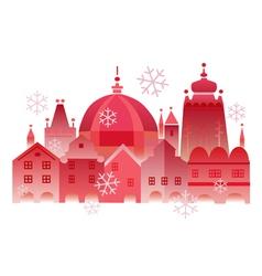 Christmas winter historical town vector