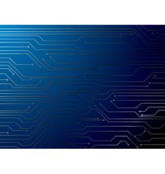 circuit blue vector image