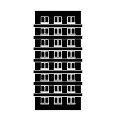 contour apartment building line sticker vector image