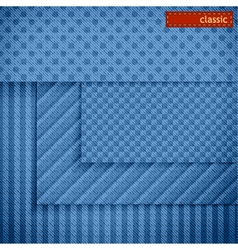 Fabric patterns for website background design vector image