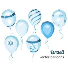 Flag of Israel on balloon Israeli balloons vector image