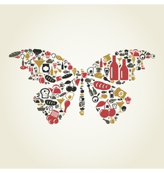 Food the butterfly vector image vector image