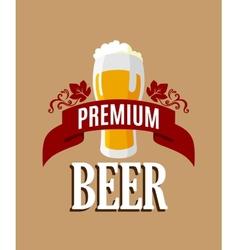 Lager beer banner vector image