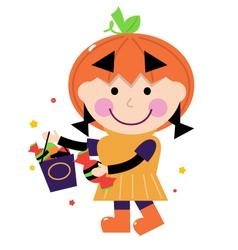 pumpkin costume vector image vector image