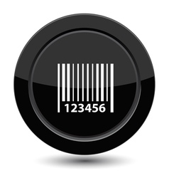 Button with Barcode vector image vector image