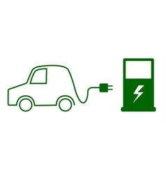 Electric car concept vector image
