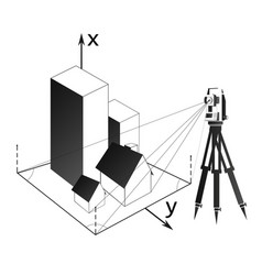 Geodetic survey of real estate and land vector