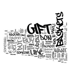 Gift baskets text background word cloud concept vector