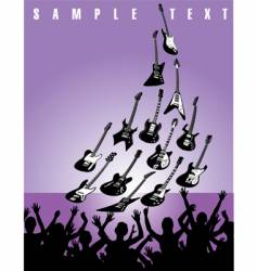 live music guitars vector image