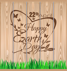 earth day lettering design 22 april vector image vector image