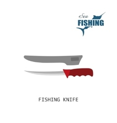 Fisher knife Item of fishing vector image