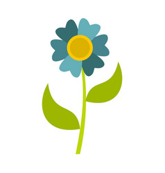 flower icon flat style vector image