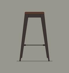 Industrial style steel stool vector image