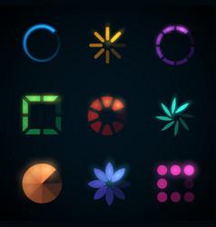 loading progress bar and preloader icons vector image