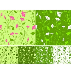 Seamless spring patterns vector image