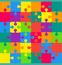 36 multicolor background puzzle jigsaw vector