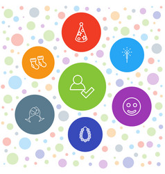 7 new icons vector image