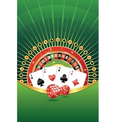 Abstract background with gambling elements vector image