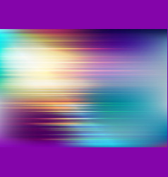 Abstract speed lines on blurred colors background vector