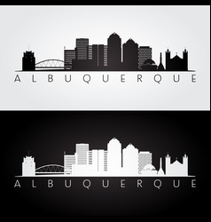 Albuquerque usa skyline and landmarks silhouette vector