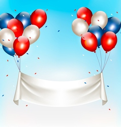 American background with colorful balloons for 4th vector image
