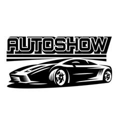 Auto show monochrome vector