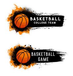 Basketball ball team game streetball sport club vector