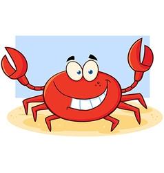 Beach crab cartoon vector