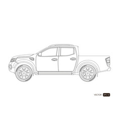 blueprint of suv contour drawing of car vector image