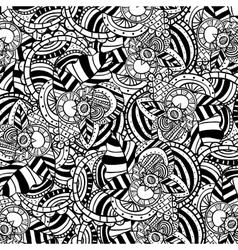 Boho style black and white background design vector image