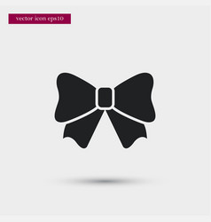 bow icon simple winter sign vector image