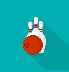 bowling icon set of great flat icons with style vector image